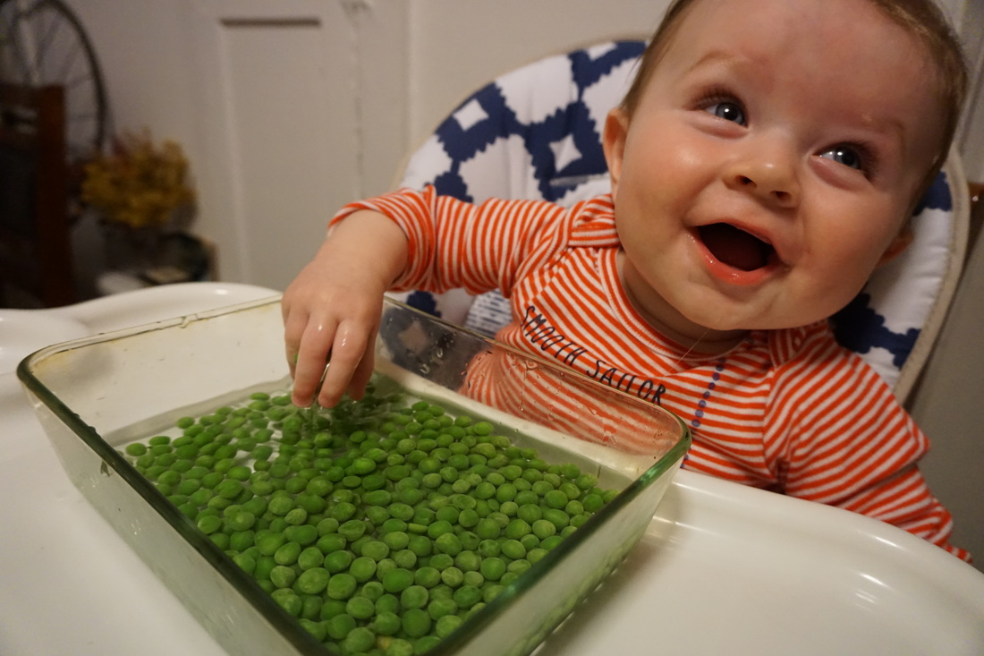 Developmental Activities For 5 Month Old Babies Using Frozen Green Peas Choice Parenting
